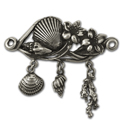 Sealife Brooch in Sterling Silver