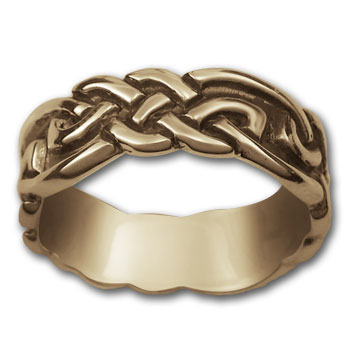 Eternity Knot Ring in 14k Gold