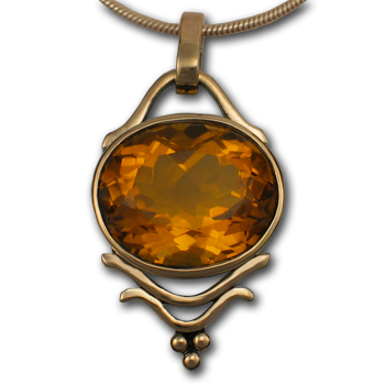 Madeira Citrine Pendant in Sterling Silver