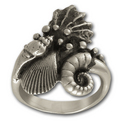 Sea Shell Ring in Sterling Silver