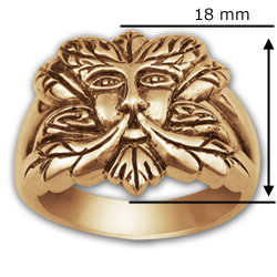 Greenman Ring in 14k Gold