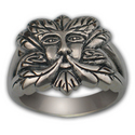 Greenman Ring in Sterling Silver