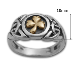 Shamrock Ring in Silver & Gold