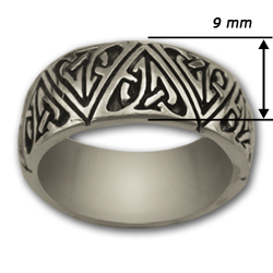 Celtic Band Ring in Sterling Silver