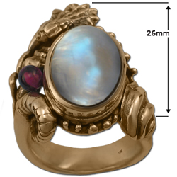 Sea Shell Ring in 14k Gold