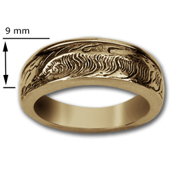 Wave Ring in 14k Gold