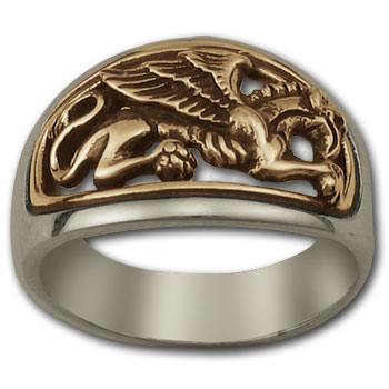 Gryphon Ring in Silver & Gold
