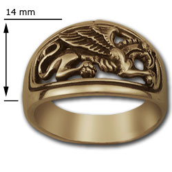 Gryphon Ring in 14k Gold
