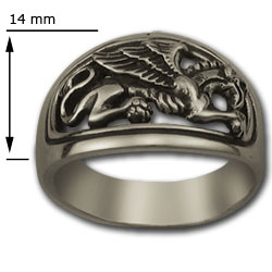 Gryphon Ring in Sterling Silver