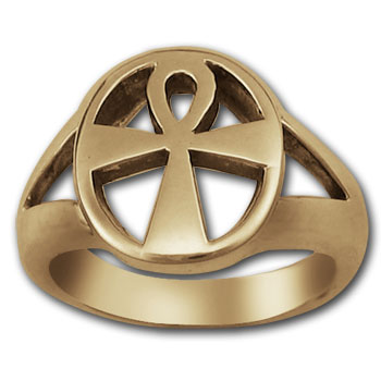 Ankh Ring in 14k Gold