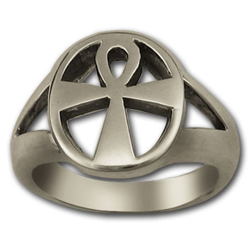 Ankh Ring in Sterling Silver