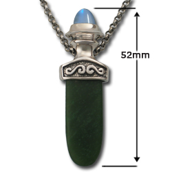 Celtic Pendant with Jade Tongue in Sterling