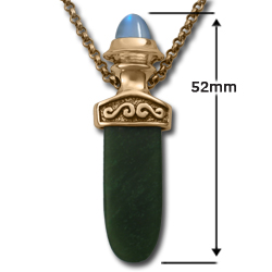 Celtic Pendant with Jade Tongue in 14k