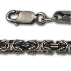 Byzantine Chain in Sterling Silver