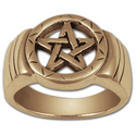 Pentagram Ring in 14k Gold