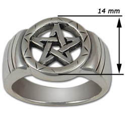 Celtic Pentagram Ring in Sterling Silver