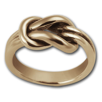 Lovers Knot Ring in 14k Gold