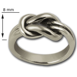 Lovers Knot Ring in Sterling Silver
