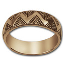 Yurok Border Ring in 14k Gold