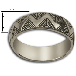 Yurok Border Ring in Sterling Silver
