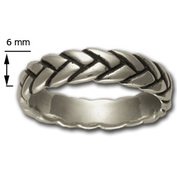 Rope Ring (Lg) in Sterling Silver