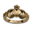 Lg Claddagh Ring in 14K Gold