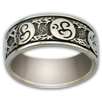 Om Ring in Sterling Silver