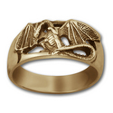 Dragon Ring in 14k Gold