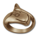 Sperm Whale Ring in 14k Gold