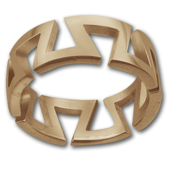 Yurok Ring in 14k Gold