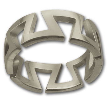 Yurok Ring in Sterling Silver