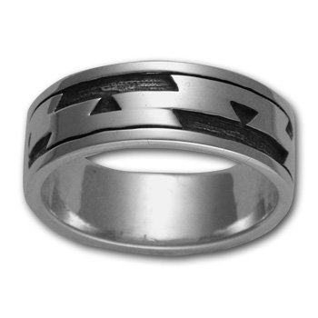 Yurok Friendship Ring in Sterling Silver