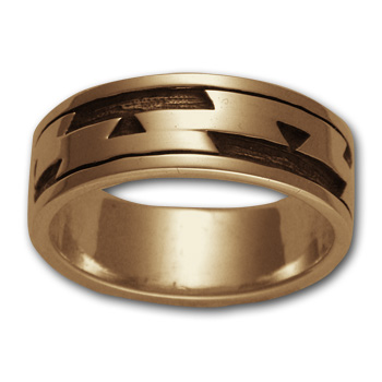 Yurok Friendship Ring in 14k Gold