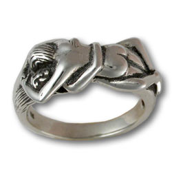 Lovers Ring in Sterling Silver
