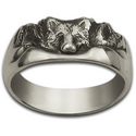 Wolf Ring in Sterling Silver