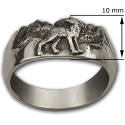 Howling Wolf Ring in Sterling Silver MoonstoneJewelrycom