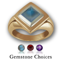 Gemstone Ring in White & Yellow Gold