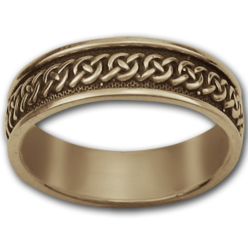 Celtic Wedding Ring  in 14k gold