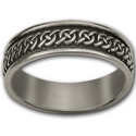Celtic Wedding Ring  in Sterling Silver