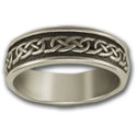 Celtic Wedding Band (Sm) in Sterling Silver