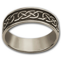 Celtic Wedding Band (Lg) in Sterling Silver