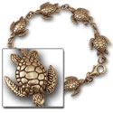 Turtle Bracelet in 14k Gold