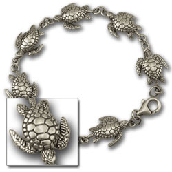 Turtle Bracelet in Sterling Silver