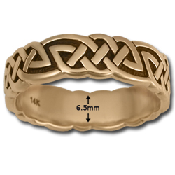 Celtic Wedding Band (Lg) in 14k Gold