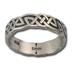 Celtic Wedding Band in Sterling Silver
