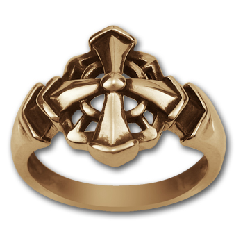 Gothic Cross Ring in 14k Gold