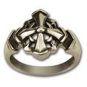 Gothic Cross Ring in Sterling Silver