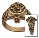 Celtic Poison Ring in 14k Gold