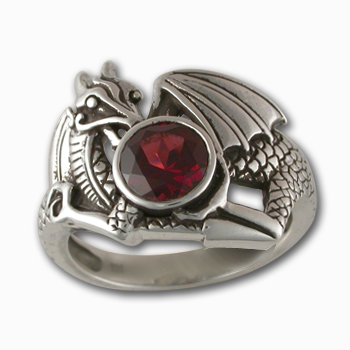 Atan Dragon Ring in Sterling Silver