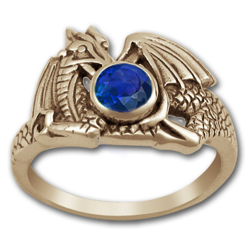 Raphela Dragon Ring in 14k Gold